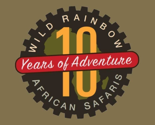 Wild Rainbow African Safaris 10 Year Anniversary Graphic